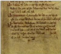 Pilsbury entry in Domesday Book